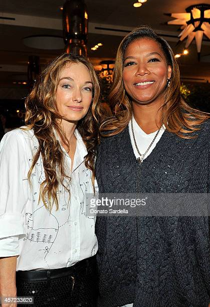 Interior designer Kelly Wearstler and actress Queen Latifah attend Kelly Wearstler x Shantell Martin Collection Launch on October 14 2014 in Los...