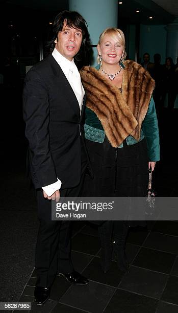 Interior designer Laurence LlewelynBowen and his wife Jackie arrive at the UK Premiere of Keeping Mum at Vue Leicester Square on November 28 2005 in...