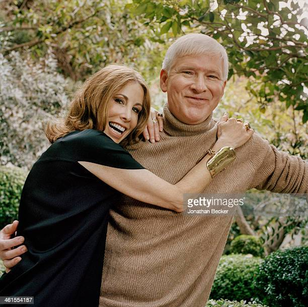 Interior designer Madeline Stuart and husband writer Steve Oney are photographed for Town & Country Magazine on October 18, 2012 at home in Los...