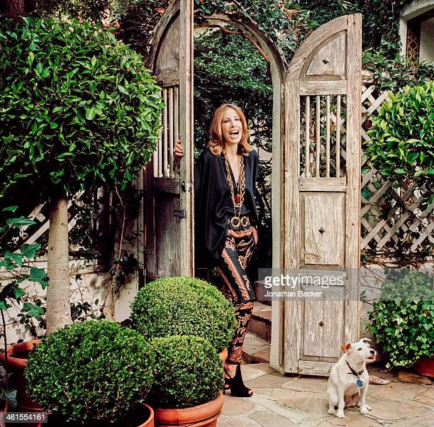 Interior designer Madeline Stuart is photographed for Town & Country Magazine on October 18, 2012 at home in Los Angeles, California.