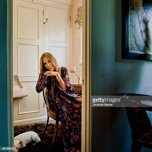 Interior designer Madeline Stuart is photographed for Town & Country Magazine on October 18, 2012 at home in Los Angeles, California. PUBLISHED IMAGE.