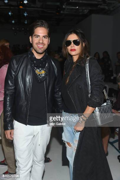 Interior designer Michael Arguello and actress Adriana de Moura attends the Zang Toi fashion show during New York Fashion Week The Shows at Gallery 3...