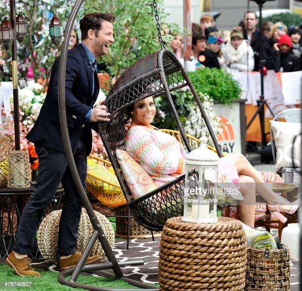"Interior designer Nate Berkus and Bobbi Thomas appear on the set of NBC's ""Today"" at Rockefeller Plaza on March 20, 2014 in New York City."