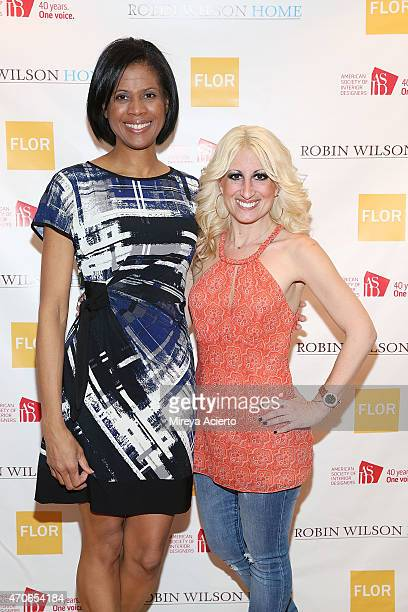 Interior designer Robin Wilson and Alison Rodman attend the book signing of Clean Design at FLOR Design Store on April 21 2015 in New York City