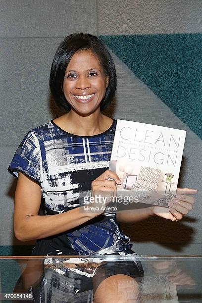 Interior designer Robin Wilson attends the book signing of Clean Design at FLOR Design Store on April 21 2015 in New York City