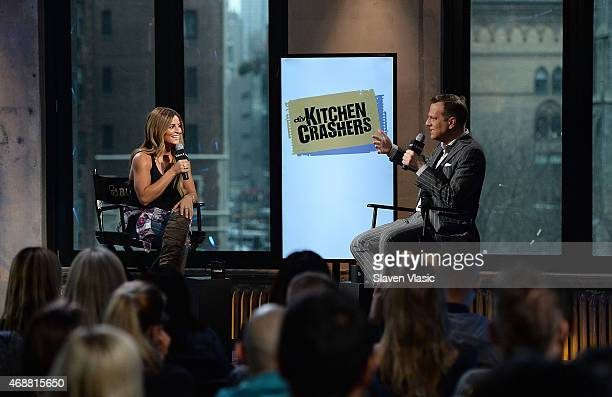 Interior designer/TV personality Alison Victoria talks to TV personality and moderator Brian Balthazar during AOL BUILD Speaker Series Alison...