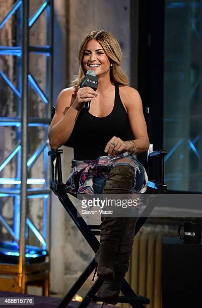 Interior designer/TV personality Alison Victoria visits 'AOL BUILD Speaker Series Alison Victoria' at AOL Studios In New York on April 7 2015 in New...