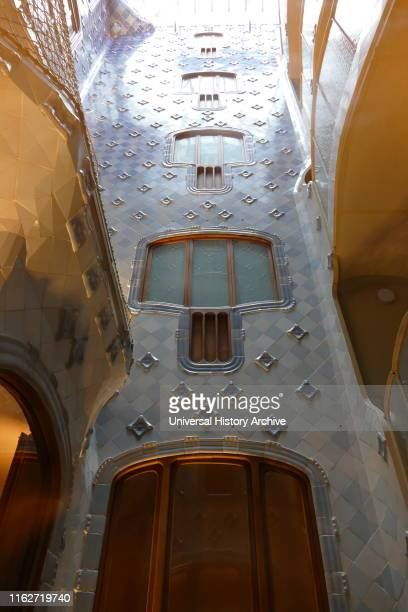 Interior detail from the Casa Batllo, Barcelona, designed by Antoni Gaudi. A remodel of a previously built house, it was redesigned in 1904 by Gaudi...