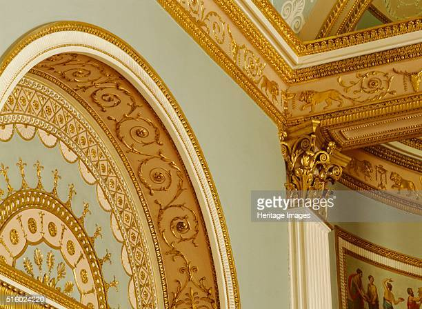 Interior detail Kenwood House Hampstead London c2000s Detail of the arch of one of the mirrored recesses in the library Kenwood House was remodelled...