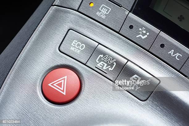 Interior detail of a Toyota Prius Plugin Hybrid car taken on June 5 2016