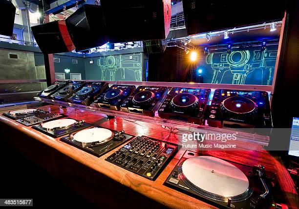 Interior detail of the DJ booth at Matter nightclub in London September 17 2009