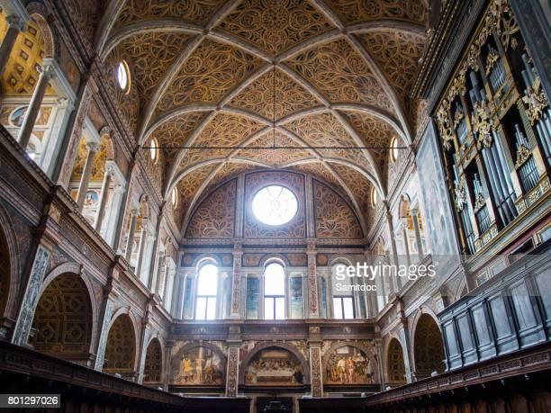 interior details of the 16th century church of san maurizio (chiesa di san maurizio al monastero maggiore) in milan, italy - archäologie stock-fotos und bilder