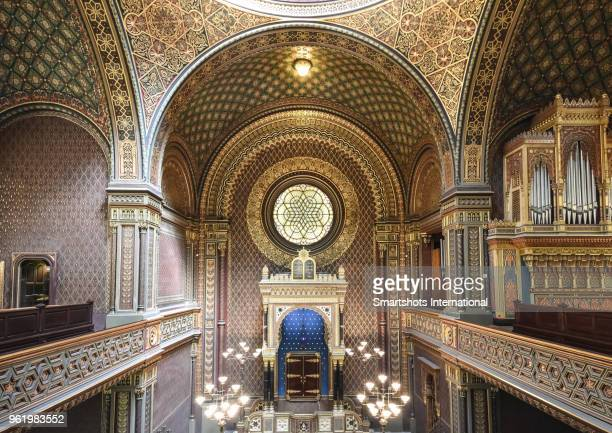 Interior details of the Spanish Synagogue of Prague, Czech Republic, a UNESCO heritage site