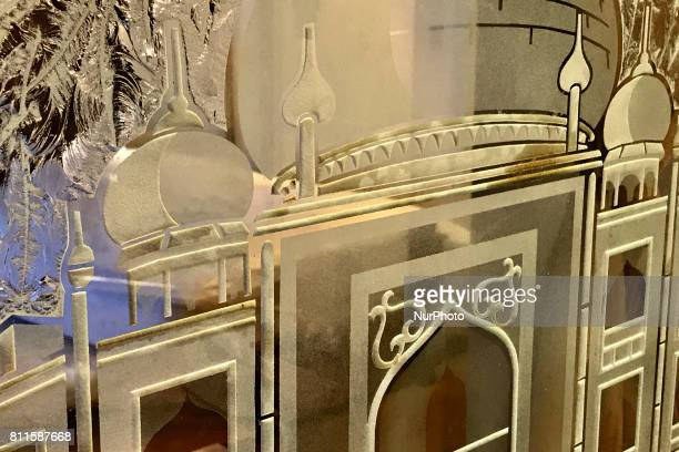 Interior details of Trump Taj Mahal Casino and Resort in Atlantic City New Jersey as several floors are opened to the public during a large scale...