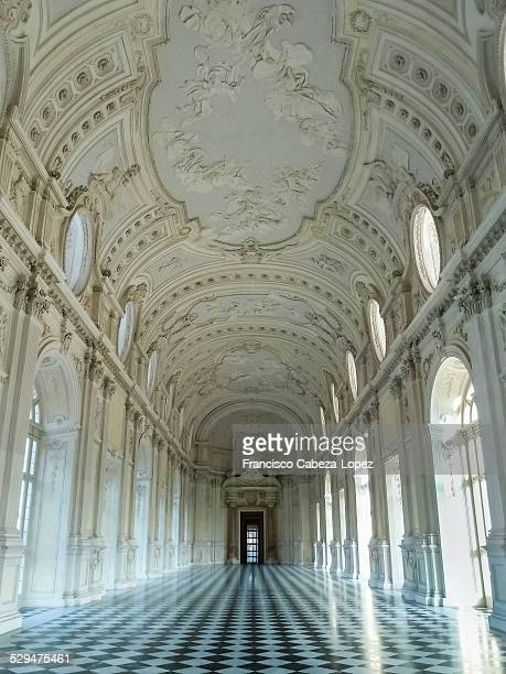 Interior details of Venaria Palace in Turin Italy