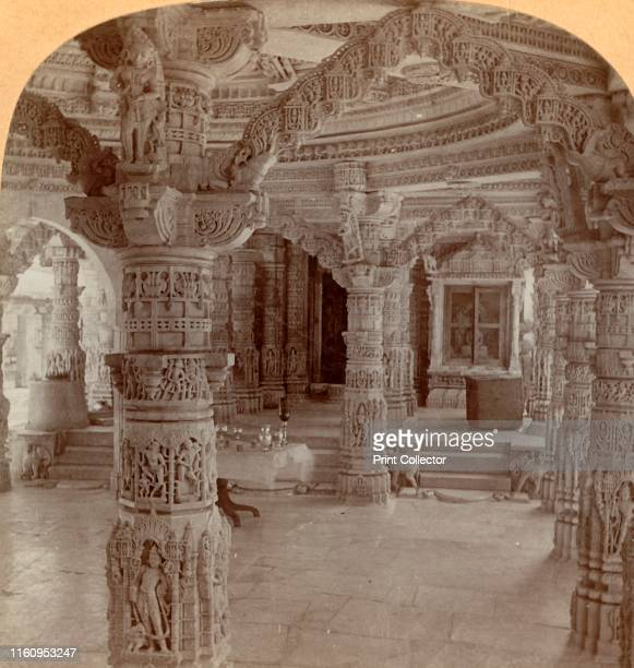 'Interior, Dilwara Temple, Mount Abu, India', 1901. One of the Jain Dilwara Temples near Mount Abu, Rajasthan, designed by Vastupala and built by...