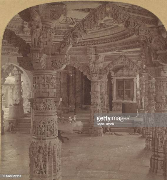 Interior, Dilwara Temple, Mount Abu, India, B. L. Singley Albumen silver print.