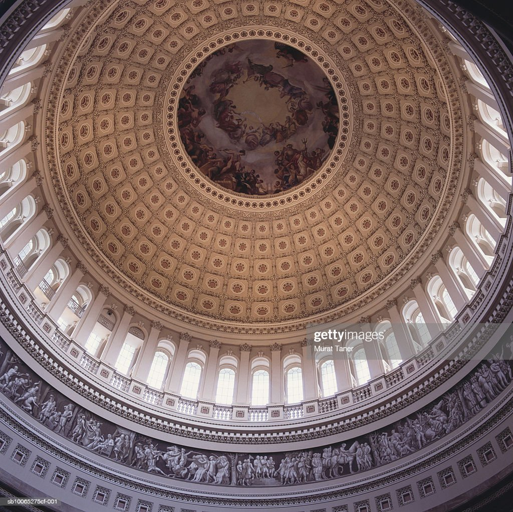 Interior dome of the US Capitol building, close-up, low angle view : Foto stock