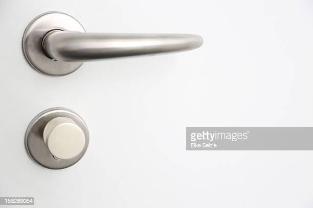 Interior door handle with lock