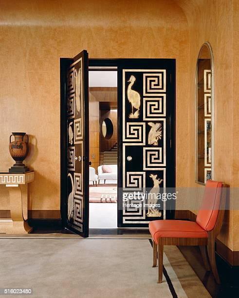 Interior Eltham Palace London c2000s A view through the double doors from the dining room to the entrance hall In origin Eltham was a royal palace...
