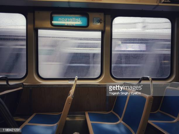 interior empty train - train interior stock pictures, royalty-free photos & images