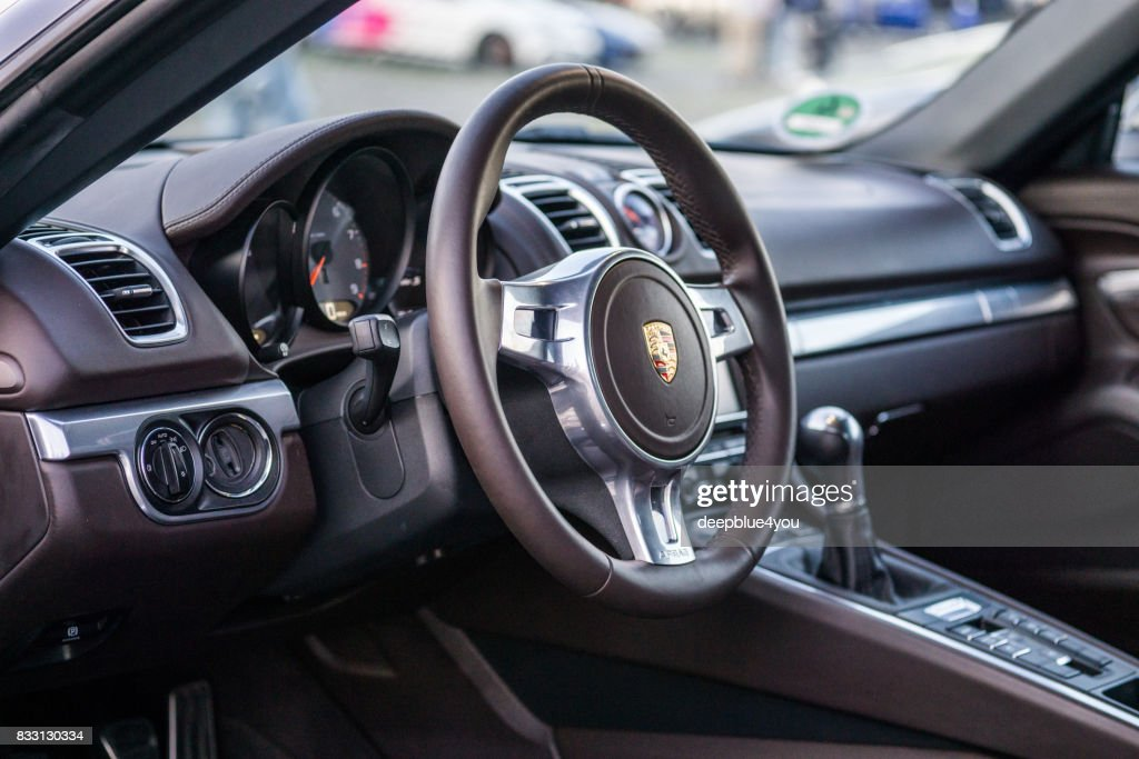 Interior From A Porsche Boxster Spyder Open Sports Car During The Event  With Magnus Walker On