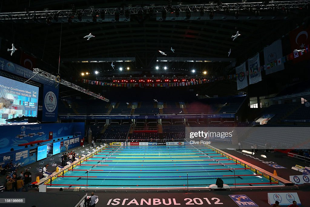 A interior general view of the Sinan Erdem Arena venue of the 2012 World Short Course Swimming Championships on December 11, 2012 in Istanbul, Turkey.