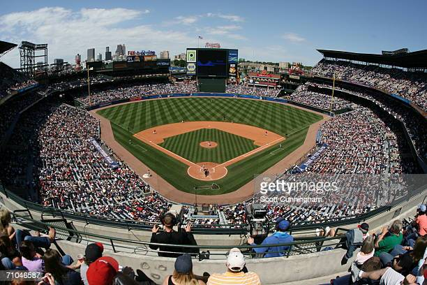 Interior general view of the stadium during the game between the Washington Nationals and Atlanta Braves on May 14 2006 at Turner Field in Atlanta...