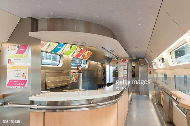 interior high speed train ave atocha station madrid spain - alta velocidad espanola stock pictures, royalty-free photos & images