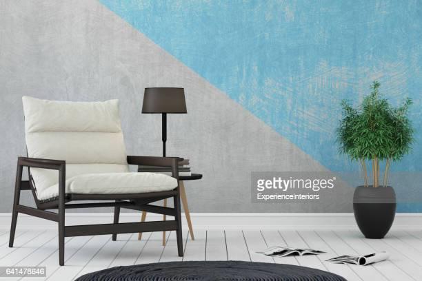Mock-up Wand Hintergrund innen hipster