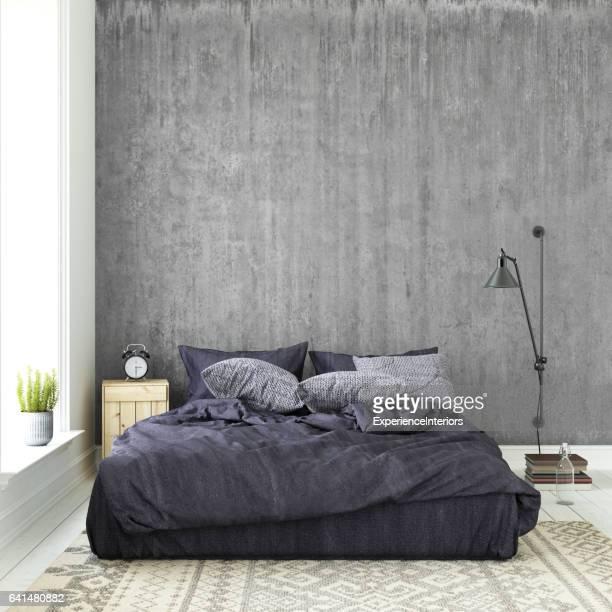 Interieur hipster mock up muur achtergrond