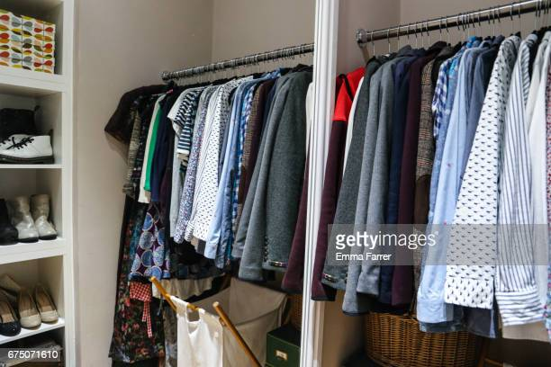 interior home dressing room - walk in closet stock photos and pictures