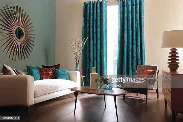 Interior image of a contemporary living room