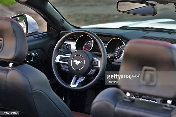Interior in a Ford Mustang