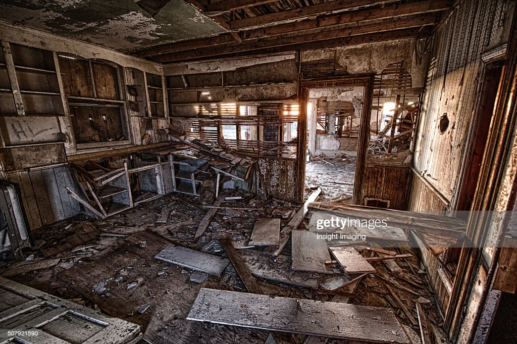 Interior Kitchen In Abandoned House Stock Photo