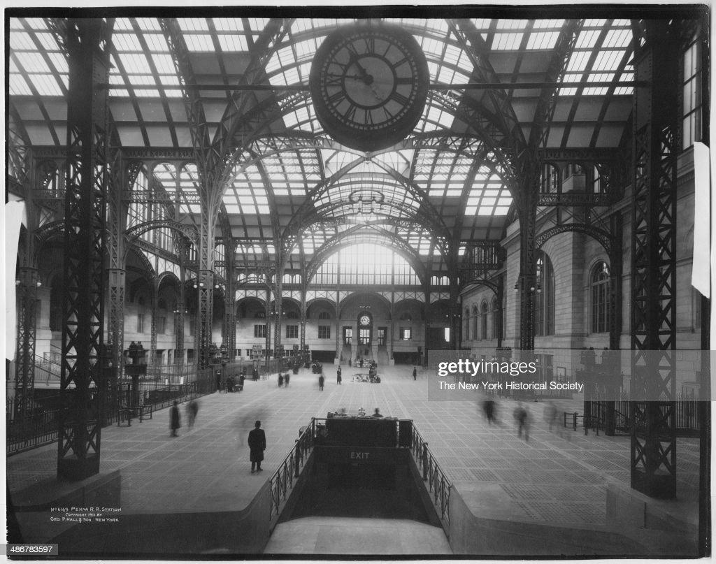 Interior main concourse of Penn Station (Pennsylvania Station), New York, New York, 1911.