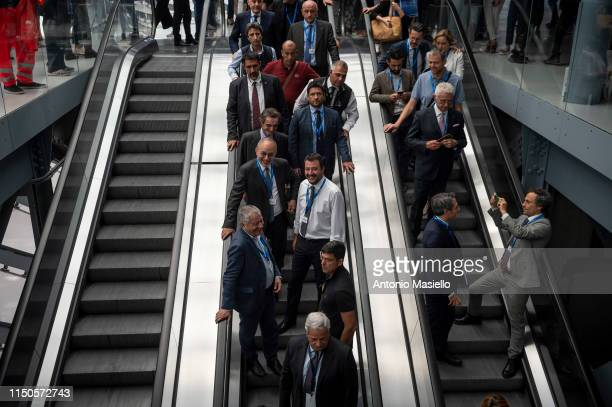 Interior Minister and Deputy Prime Minister Matteo Salvini attends a national meeting of Confartigianato on June 18 in Rome Italy