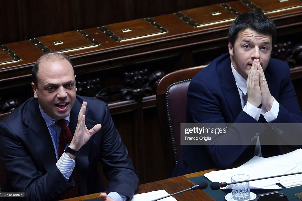 Matteo Renzi Government To Face Confidence Vote At The Italian Chamber Of Deputies : News Photo