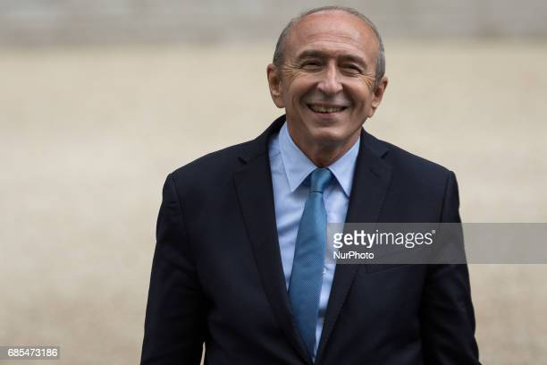 Interior minister Gerard Collomb arrives for a cabinet meeting at the Elysee Palace in Paris France on Thursday May 18 2017