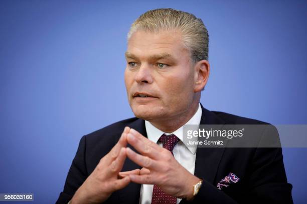 Interior Minister of the federal state SaxonyAnhalt Holger Stahlknecht is pictured during the presentation of the German Criminal Statistics and of...