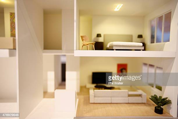 A interior model of a Hobsonville Point house is pictured as Dr Nick Smith the Minister for Building and Housing announces the decision by the...