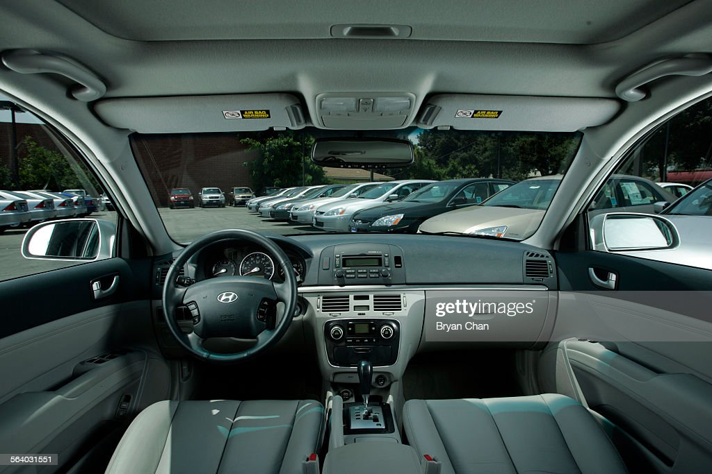 Interior Of A 2006 Hyundai Sonata With New Honda Accords At Honda Of  Pasadena. For