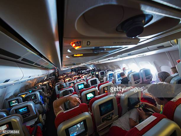 Interior of a airliner.