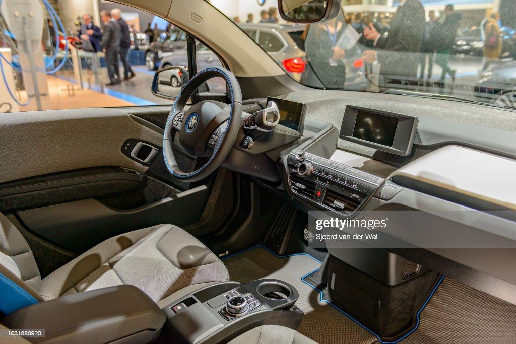 Interior Of A Bmw I3 Five Door Urban Electric Car The Minimalistic