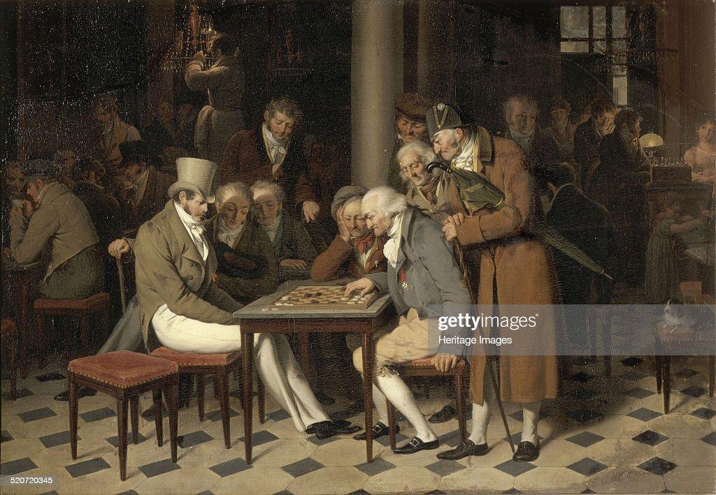 Interior of a café (La partie de dames au café Lamblin au Palais-Royal). Artist: Boilly, Louis-Léopold (1761-1845) : News Photo