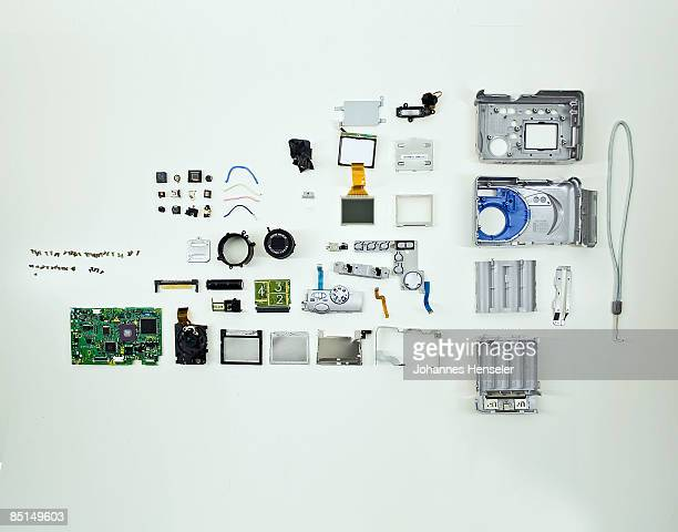 Interior of a camera, disassembled