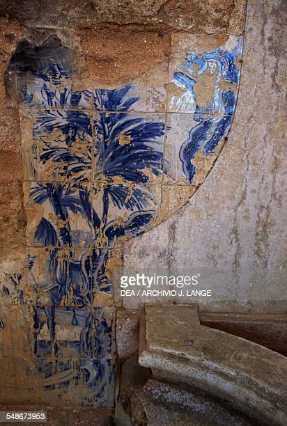 Interior of a chapel in the sanctuary of Nossa Senhora do Cabo de Espichel Historical Province of Extremadura Alentejo Portugal 18th century