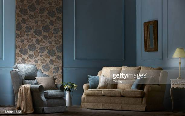 interior of a contemporary living room - sofa stock pictures, royalty-free photos & images