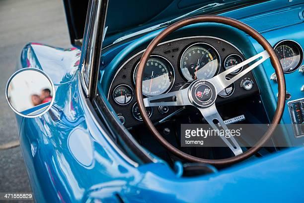 Interior of a Convertible Corvette Stingray