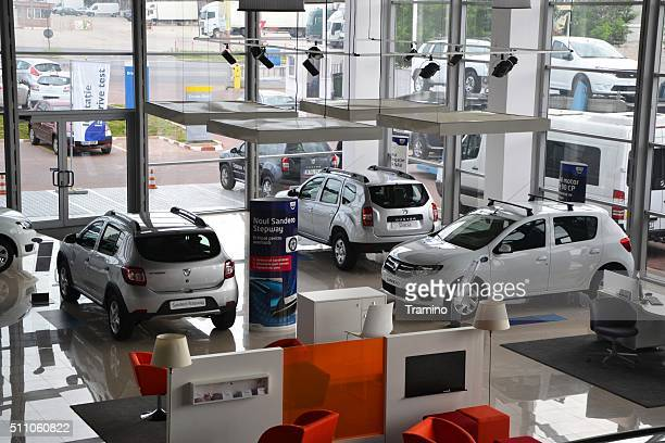 Interior of a Dacia dealership building